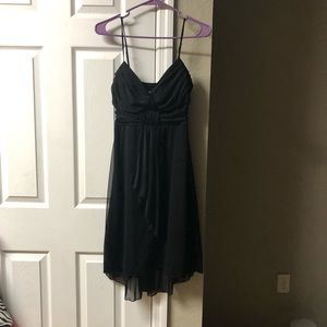 SPEECHLESS Black Spaghetti Strap Flowy Dress